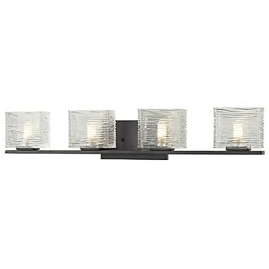 Z-Lite Jaol (3026-4V) 4 Light Vanity Light, 3.75