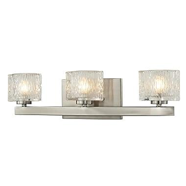 Z-Lite Rai (3027-3V) - Luminaire pour salle de bains à trois lumières, 3,63 po x 20 po x 5,38 po