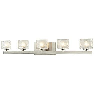 Z-Lite Rai (3027-5V) - Luminaire pour salle de bains à cinq lumières, 4 po x 35,75 po x 5,38 po