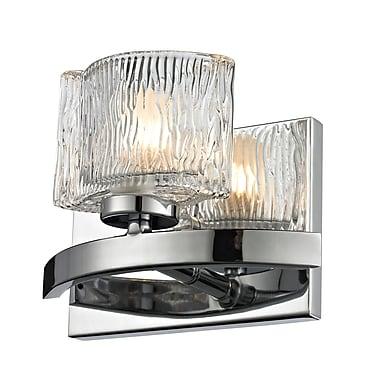 Z-Lite Rai (3028-1V) - Luminaire pour salle de bains à une lumière, 3,63 po x 7,38 po x 5,5 po, chrome