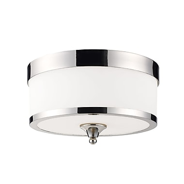 Z-Lite Cosmopolitan (307F-CH) 3 Light Flush Mount, 13