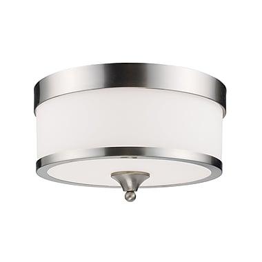 Z-Lite Cosmopolitan (308F-NB) - Lampe encastrée à trois lumières, 13 po x 8 po, nickel brossé