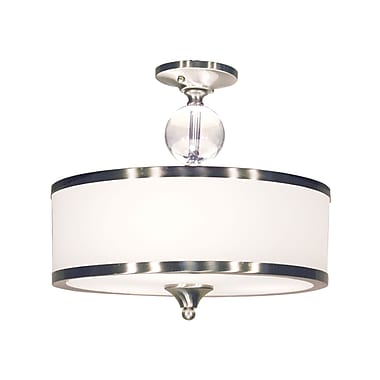 Z-Lite Cosmopolitan (308SF-BN) 3 Light Semi Flush Mount, 15.5