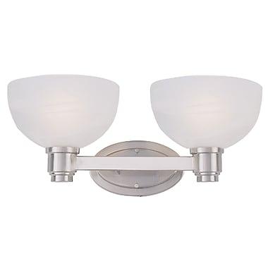 Z-Lite Chelsey (314-2V-NB) - Luminaire pour salle de bains à deux lumières, 9,75 po x 18,5 po x 7,75 po, nickel brossé