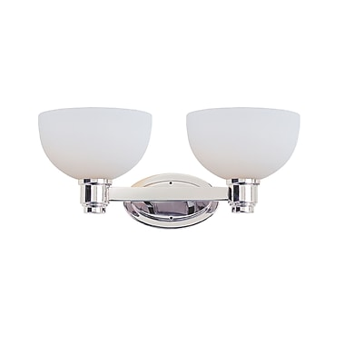 Z-Lite Chelsey (314-2V-CH) - Luminaire pour salle de bains à deux lumières, 9,75 po x 18,5 po x 7,75 po, chrome
