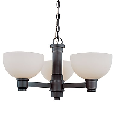 Z-Lite Chelsey (314-3C-BRZ) 3 Light Chandelier, 23