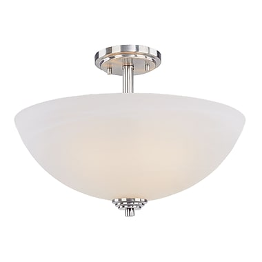 Z-Lite Chelsey (314SF-BN) 3 Light Semi Flush Mount, 15.75