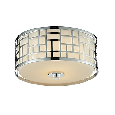 Z-Lite Elea (328F12-CH) 2 Light Flush Mount Light, 11.75