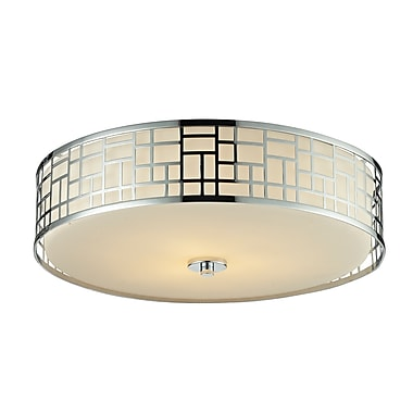 Z-Lite Elea (328F20-CH) 3 Light Flush Mount Light, 20.5