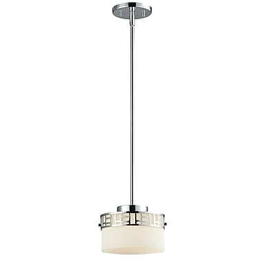 Z-Lite Elea (328MP-CH) - Mini suspension à une lumière, 7,38 po x 6 po, chrome