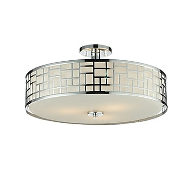 Z-Lite Elea (328-SF20-CH) 3 Light Semi-Flush Mount, 20.5