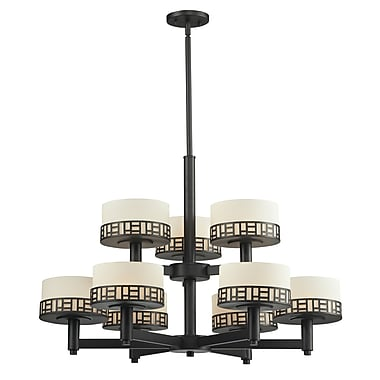 Z-Lite Elea (329-9-BRZ) 9 Light Chandelier, 31.75