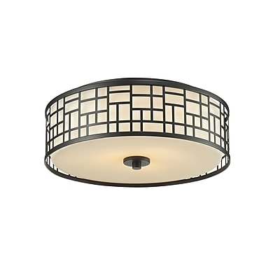 Z-Lite Elea (329F16-BRZ) 3 Light Flush Mount Light, 16.25