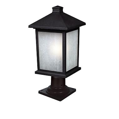 Z-Lite Holbrook (507PHB-533PM-BK) - Lampadaire pour poteau à une lumière pour l'extérieur, 9,5 po x 20,25 po, noir