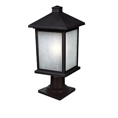 Z-Lite Holbrook (507PHB-533PM-BK) 1 Light Outdoor Post Mount Light, 9.5