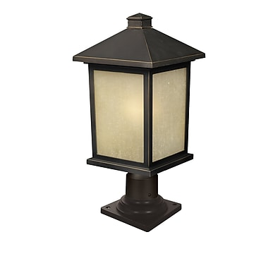 Z-Lite Holbrook (507PHB-533PM-ORB) 1 Light Outdoor Post Mount Light, 9.5