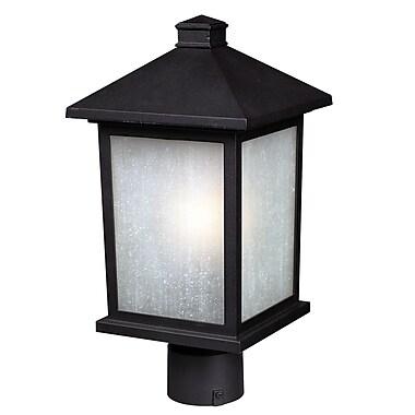Z-Lite Holbrook (507PHM-BK) Outdoor Post Light, 8.13