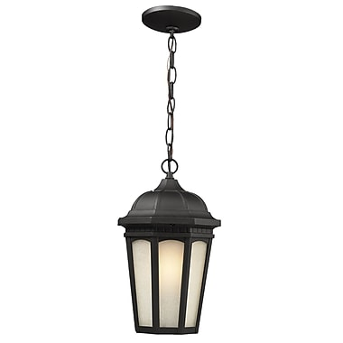 Z-Lite Newport (508CHM-BK) Outdoor Chain Light, 8.25