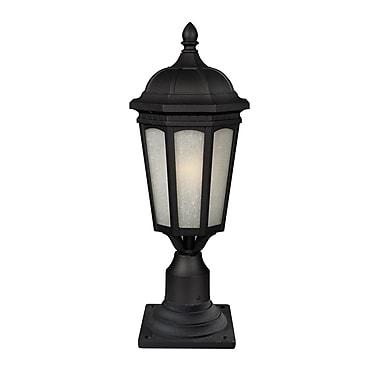 Z-Lite Newport (508PHB-533PM-BK) - Lampadaire pour poteau à une lumière pour l'extérieur, 10,38 po x 26 po, noir