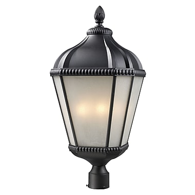 Z-Lite Waverly (513PHB-BK) Outdoor Post Light, 13