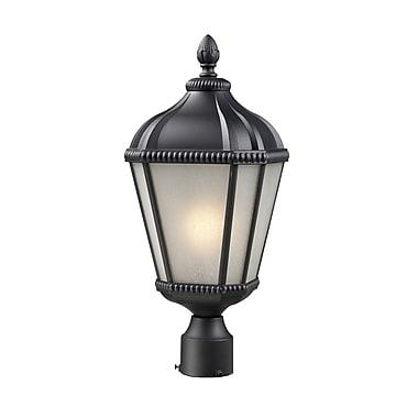 Z-Lite Waverly (513PHS-BK) - Lampadaire pour l'extérieur, 9 po x 23,25 po, noir