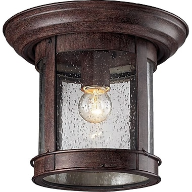 Z-Lite (515F-WB) Outdoor Flush Mount Light, 9.75