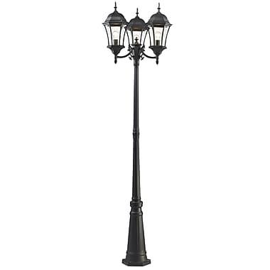 Z-Lite Wakefield (522MP3-BK) - Lampadaire pour l'extérieur, 25 po x 25 po x 90 po, noir