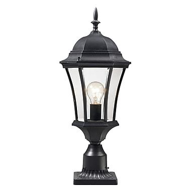 Z-Lite Wakefield (522PHM-BK-PM) Outdoor Post Light, 9.5