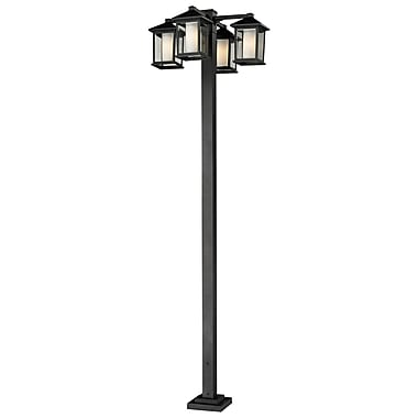 Z-Lite Mesa (523-4-536P-BK) 4 Head Outdoor Post, 30