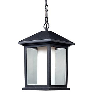 Z-Lite Mesa (523CHB) - Applique de suspension à la chaîne à une lumière pour l'extérieur, 9,5 po x 15,5 po, noir