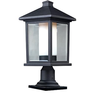 Z-Lite Mesa (523PHB-533PM-BK) - Luminaire de pilier pour l'extérieur, 9,5 po x 20,25 po, noir