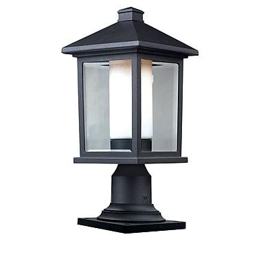 Z-Lite – Luminaire de pilier pour l'extérieur Mesa (523PHM-533PM-BK), 8,13 x 17,25 po, noir