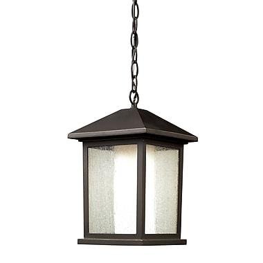 Z-Lite – Luminaire suspendu sur chaîne pour l'extérieur Mesa (524CHM), 8,13 x 13,25 po, bronze antique