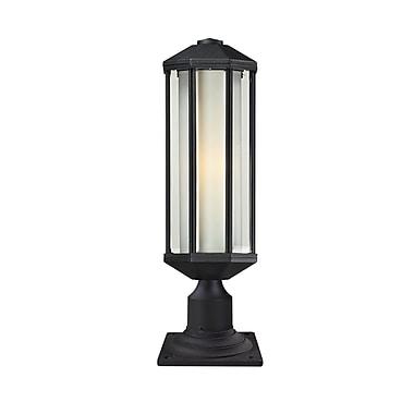 Z-Lite – Luminaire de pilier pour l'extérieur Cylex (525PH-533PM-BK), 6 x 20,8 po, noir