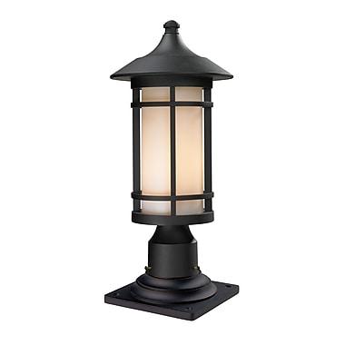 Z-Lite – Luminaire de pilier pour l'extérieur Woodland (527PHM-533PM-BK), 8,13 x 18,38 po, noir