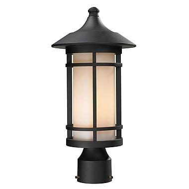 Z-Lite – Lampadaire pour l'extérieur Woodland (527PHM-BK), 8,13 x 16,63 po, noir