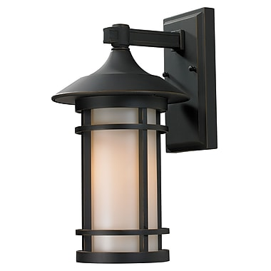 Z-Lite Woodland (528M-ORB) Outdoor Wall Light, 9.13