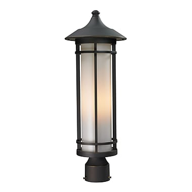 Z-Lite Woodland (530PHM-ORB) Outdoor Post Light, 8.13