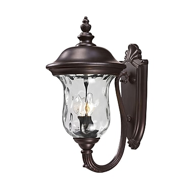 Z-Lite Armstrong (533M-RBRZ) Outdoor Wall Light, 12.8