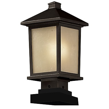 Z-Lite Holbrook (537PHM-SQPM-ORB) Outdoor Post Light, 8.13