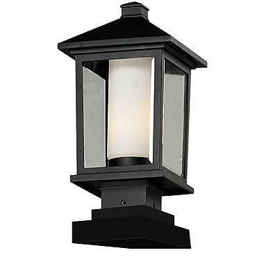 Z-Lite Mesa 538PHM-SQPM-BK, Outdoor Post Light, 8.13