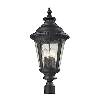 Z-Lite Medow (545PHB-BK) Outdoor Post Light, 11.88