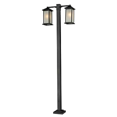 Z-Lite Vienna (547-2-536P-BK) 2 Head Outdoor Post, 30