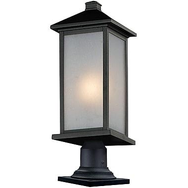 Z-Lite – Luminaire de pilier pour l'extérieur Vienna (547PHBR-533PM-BK), 9,5 x 25,25 po, noir