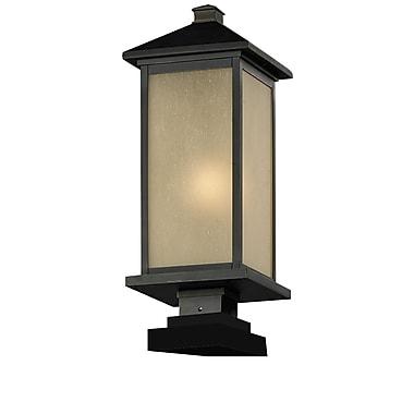 Z-Lite – Luminaire de pilier extérieur Vienna (548PHM-SQPM-ORB), 8 x 22,5 po, bronze huilé