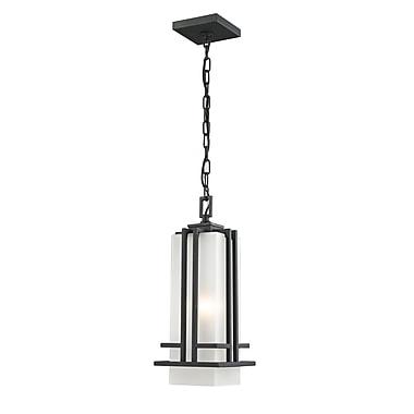 Z-Lite – Luminaire suspendu sur chaîne pour l'extérieur Abbey (549CHM-BK), 6,63 x 17 po, noir