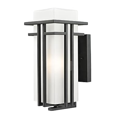 Z-Lite Abbey (549M-BK) Outdoor Wall Light, 8.25