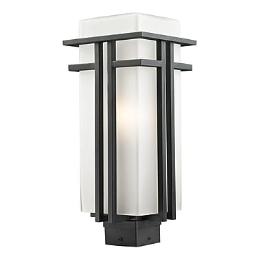 Z-Lite Abbey (549PHB-BK) Outdoor Post Light, 7.75