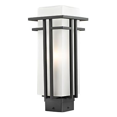 Z-Lite – Tête de lampadaire extérieur Abbey (550PHM-ORBZ), 6,63 x 15,75 po, bronze huilé