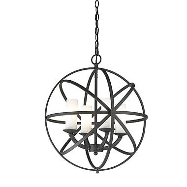 Z-Lite – Luminaire suspendu Aranya (6017-4S-BRZ) à 4 lampes, 18,31 x 18,31 x 19,29 po, bronze